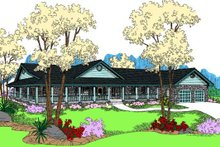 Dream House Plan - Country Exterior - Front Elevation Plan #60-653