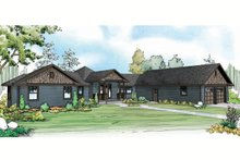 Country Exterior - Front Elevation Plan #124-915