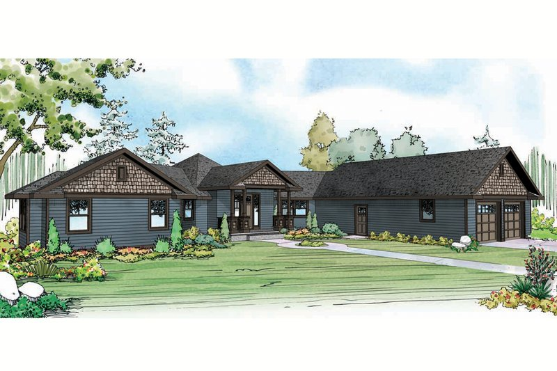 Dream House Plan - Country Exterior - Front Elevation Plan #124-915