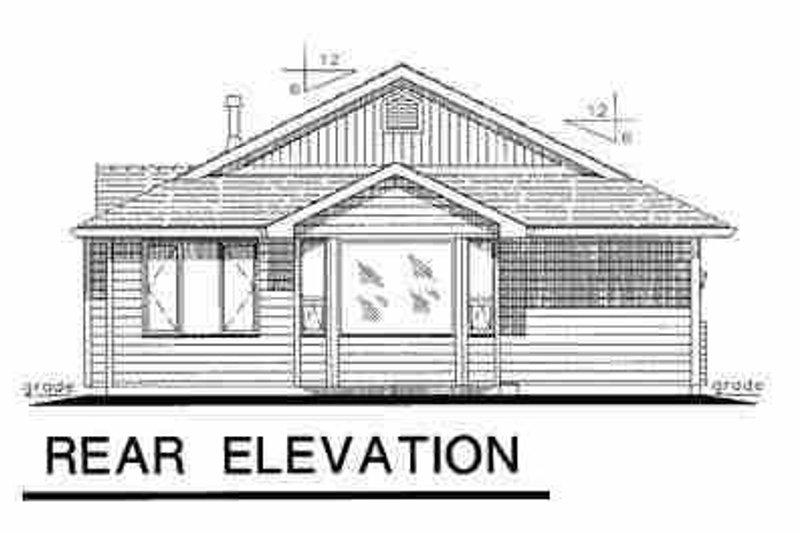 Traditional Exterior - Rear Elevation Plan #18-1030 - Houseplans.com