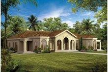 House Blueprint - Mediterranean Exterior - Front Elevation Plan #72-161