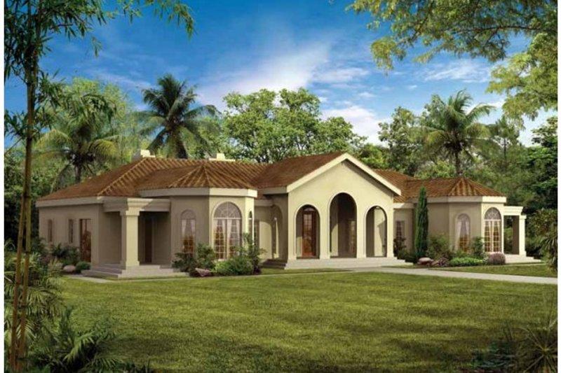 Dream House Plan - Mediterranean Exterior - Front Elevation Plan #72-161