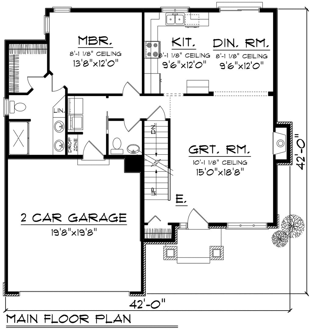 Traditional style house plan 4 beds 2 5 baths 1690 sq ft for Nl house plans