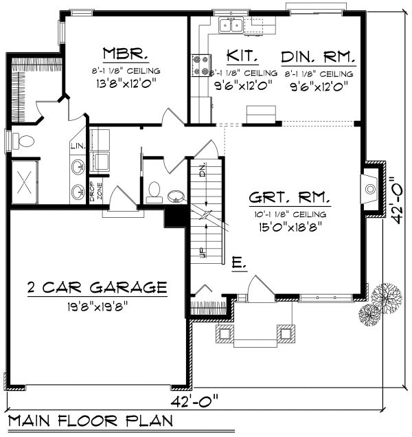 Traditional Floor Plan - Main Floor Plan Plan #70-1163