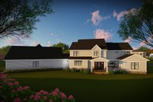 House Plan Design - Country Exterior - Rear Elevation Plan #70-1488