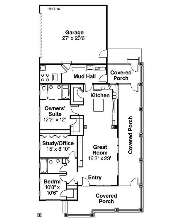 Home Plan - Cottage Floor Plan - Main Floor Plan #124-950