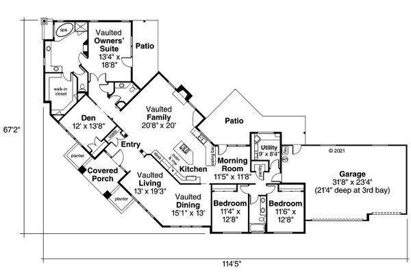 Modern Floor Plan - Main Floor Plan #124-281