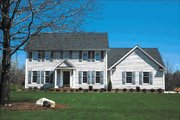 Colonial Style House Plan - 4 Beds 2.5 Baths 1993 Sq/Ft Plan #20-214 Exterior - Front Elevation