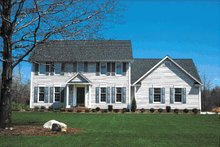 Home Plan - Colonial Exterior - Front Elevation Plan #20-214