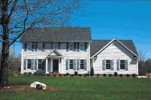 Colonial Exterior - Front Elevation Plan #20-214