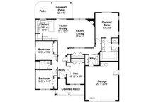 Ranch Floor Plan - Main Floor Plan Plan #124-929