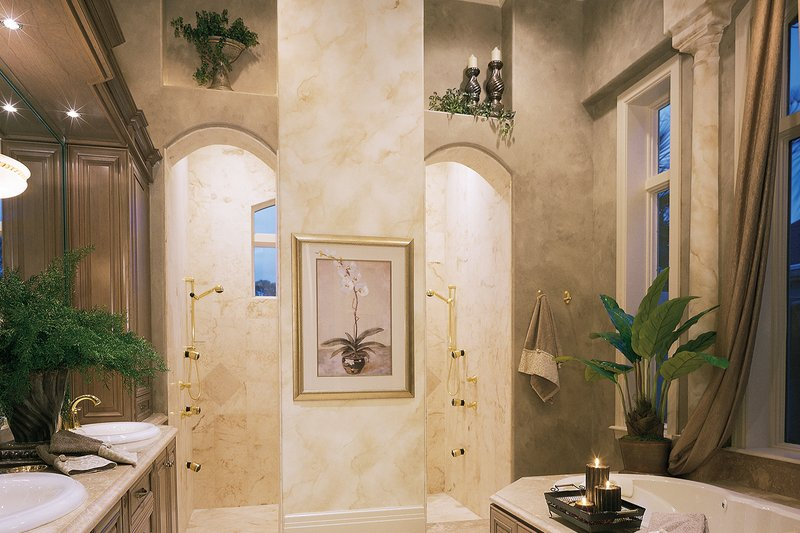 Mediterranean Interior - Master Bathroom Plan #930-15 - Houseplans.com