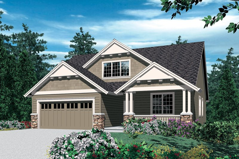 Craftsman Exterior - Front Elevation Plan #48-439