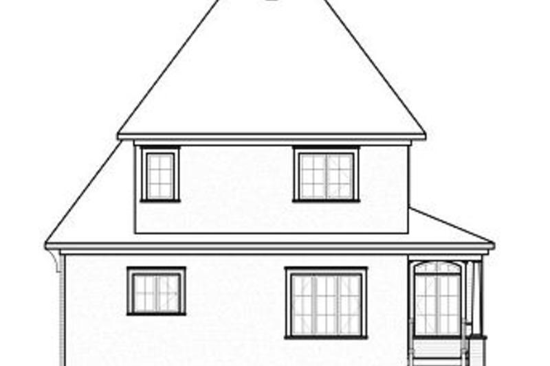 Farmhouse Exterior - Rear Elevation Plan #23-807 - Houseplans.com