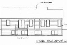 House Design - Craftsman Exterior - Rear Elevation Plan #58-169