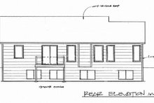 Craftsman Exterior - Rear Elevation Plan #58-169