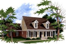 House Plan Design - Traditional Exterior - Front Elevation Plan #37-125