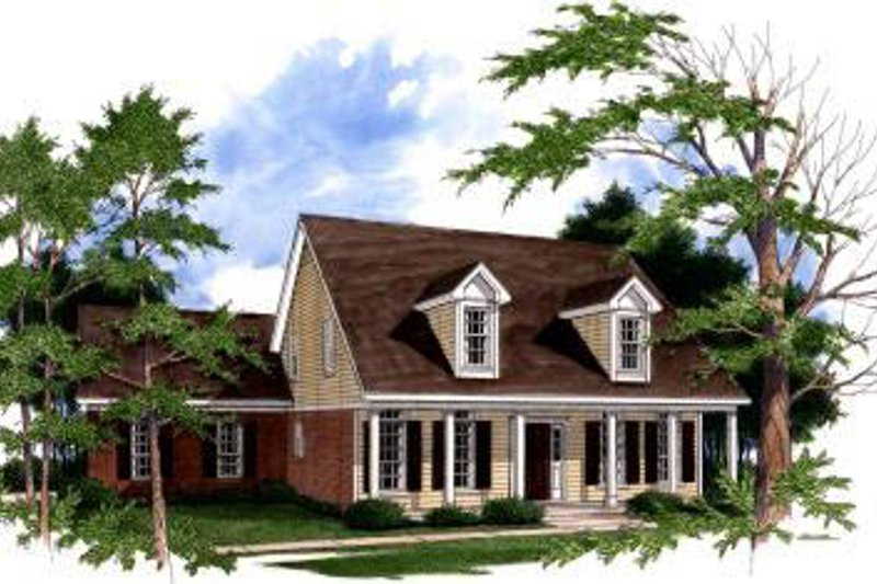 Architectural House Design - Traditional Exterior - Front Elevation Plan #37-125