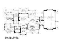 Craftsman Floor Plan - Main Floor Plan Plan #920-70