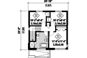 Contemporary Style House Plan - 3 Beds 1 Baths 1153 Sq/Ft Plan #25-4511 Floor Plan - Upper Floor Plan
