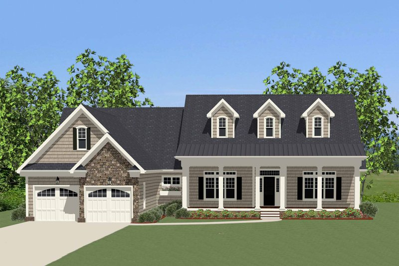 Traditional Exterior - Front Elevation Plan #898-3