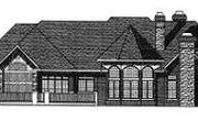 Traditional Style House Plan - 3 Beds 3.5 Baths 5376 Sq/Ft Plan #70-556 Exterior - Rear Elevation