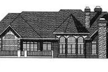 Dream House Plan - Traditional Exterior - Rear Elevation Plan #70-556