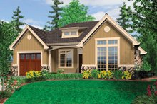 Dream House Plan - Cottage style home, front elevation