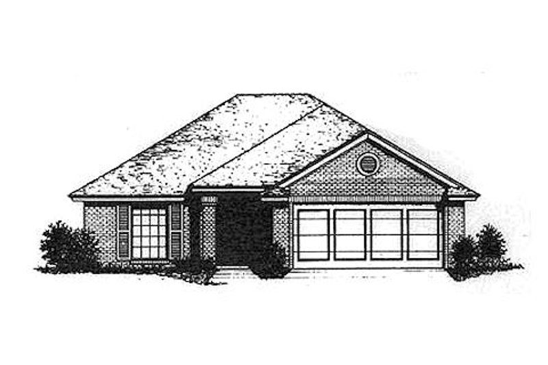 Traditional Style House Plan - 3 Beds 2 Baths 1224 Sq/Ft Plan #310-884 Exterior - Front Elevation