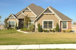 Country Exterior - Front Elevation Plan #65-540