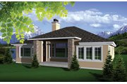Ranch Style House Plan - 2 Beds 2 Baths 1993 Sq/Ft Plan #70-1073