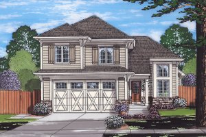 Cottage Exterior - Front Elevation Plan #46-885