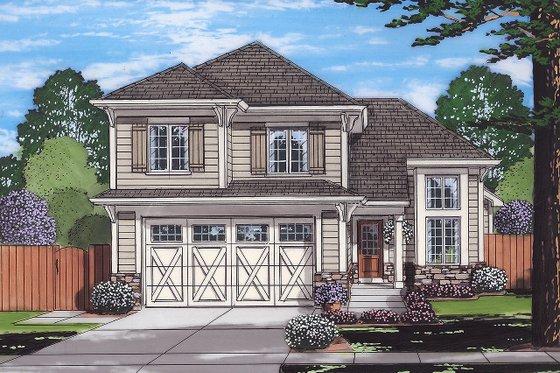 Cottage Exterior - Front Elevation Plan #46-885