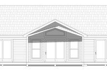 Home Plan - Country Exterior - Rear Elevation Plan #932-61