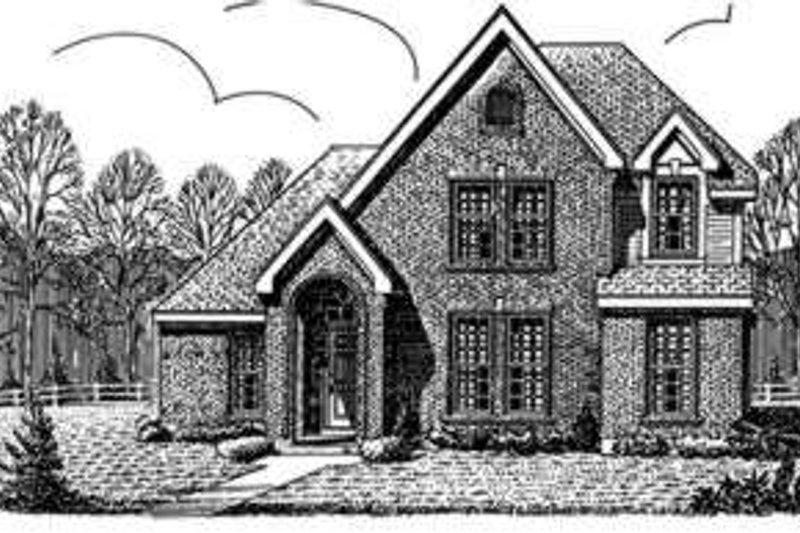 European Exterior - Front Elevation Plan #410-389 - Houseplans.com