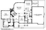 Craftsman Style House Plan - 4 Beds 3.5 Baths 3561 Sq/Ft Plan #70-1254 Floor Plan - Main Floor Plan