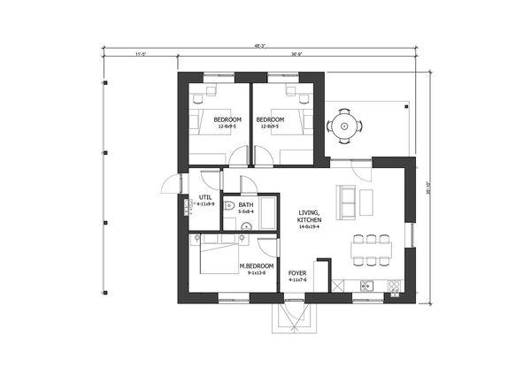 Modern Floor Plan - Main Floor Plan #538-17