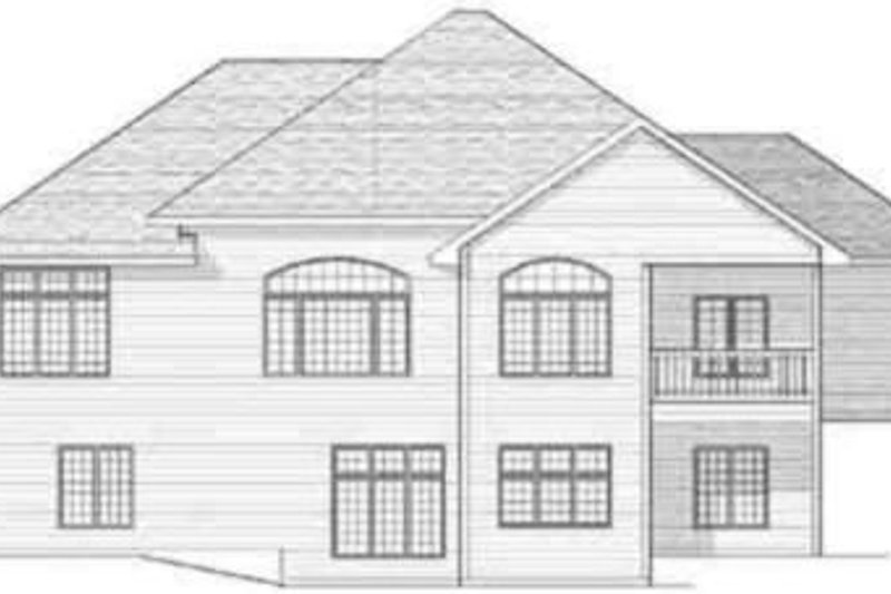 Traditional Exterior - Rear Elevation Plan #70-607 - Houseplans.com