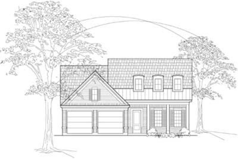 Country Exterior - Front Elevation Plan #61-101