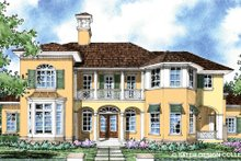 Mediterranean Exterior - Front Elevation Plan #930-278