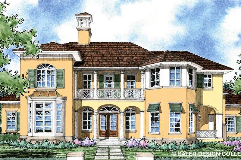 House Plan Design - Mediterranean Exterior - Front Elevation Plan #930-278