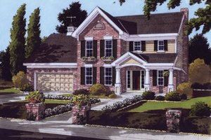 Southern Exterior - Front Elevation Plan #46-101