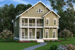 Southern Exterior - Front Elevation Plan #419-315