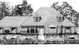 Dream House Plan - Traditional Exterior - Front Elevation Plan #62-120