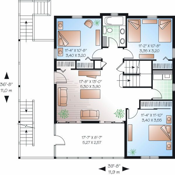 Traditional Floor Plan - Main Floor Plan Plan #23-869