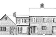 House Blueprint - Country Exterior - Rear Elevation Plan #72-152