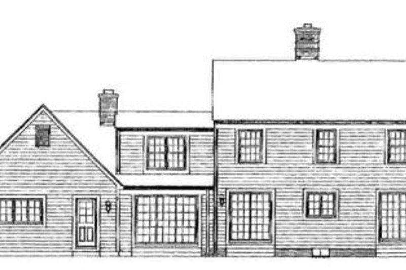 Country Exterior - Rear Elevation Plan #72-152 - Houseplans.com