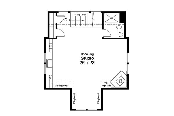 Country Floor Plan - Upper Floor Plan Plan #124-1098