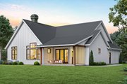 Contemporary Style House Plan - 3 Beds 2 Baths 1878 Sq/Ft Plan #48-944 Exterior - Rear Elevation