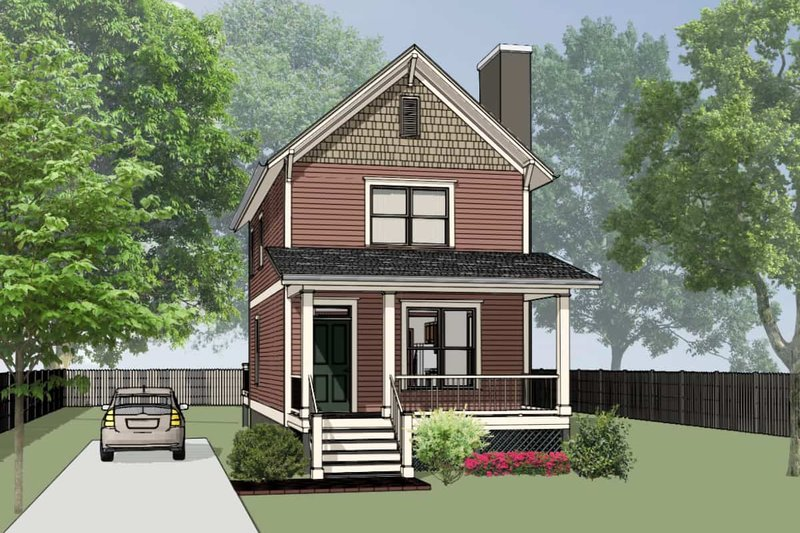 Colonial Exterior - Front Elevation Plan #79-133